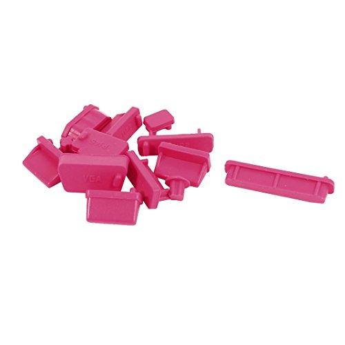 12 piezas de silicona rojo puertos Protector enchufe anti-polvo Tapón para ordenador portátil