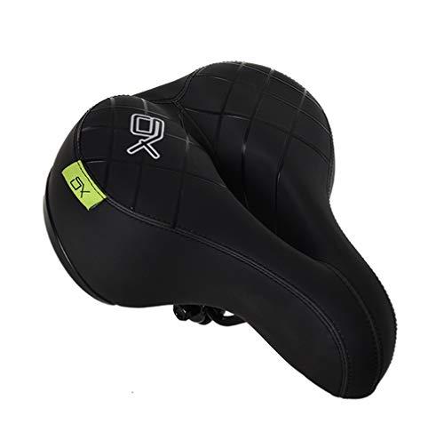 ZIHENGUO Ultra-Bequemer, Wasserdichter PU-Leder-Gelsitz, Doppelt Dämpfender Ball, Reflektierender Sicherheitsgurt, Für Alle Fahrräder Geeignet -