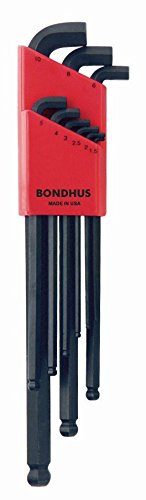 Bondhus 16599 Set of 9 Balldriver Stubby L-wrenches, sizes 1.5-10mm, Eisenwaren, Eisenwarenhandlung (Bondhus 4 Mm Balldriver)