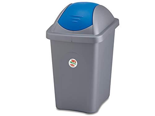 Stefanplast Eco grün Mülleimer mit Blau, Schwarz, 50Liter