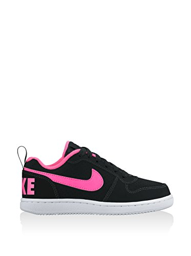 Nike Court Borough Low (Ps), espadrilles de basket-ball fille Noir (Noir / Rose Explosion)