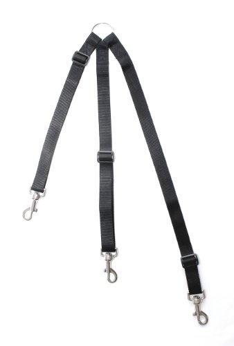 HIKS Products ADJUSTABLE TRIPLE/THREE / 3 Dog Coupler, BLACK Suitable for Walking 3 SMALL dogs on one Lead 2