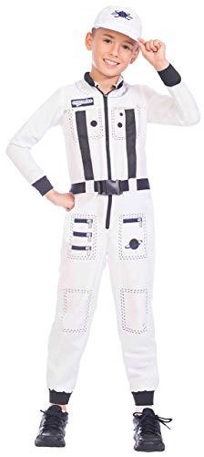 Kostüm Tag Beruf - Fancy Me Kinder Jungen Mädchen Astronauten-Uniform Beruf Weltraum Explorer Schulbuch Tag Karneval Kostüm Outfit 4-12 Jahre