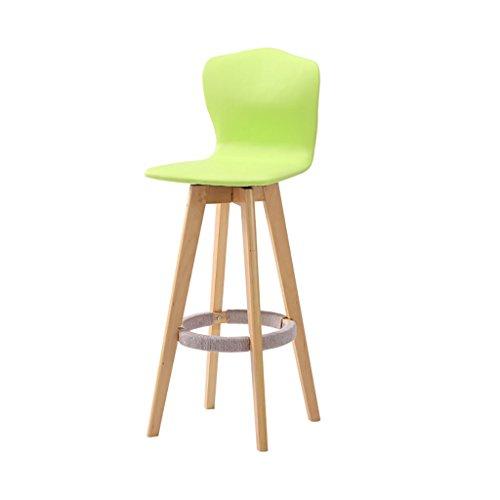 LHby Moderne Barhocker Counter Stuhl, komfortable Rückenlehne Multi-Color optional moderne Montage rotierenden Holz Bar Barhocker, Größe: Höhe 101cm Barhocker (Farbe : Grün)
