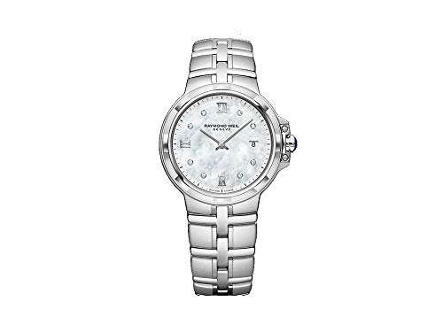 Montre à Quartz Raymond Weil Parsifal Ladies, Nacre, Jour, 8 Diamants