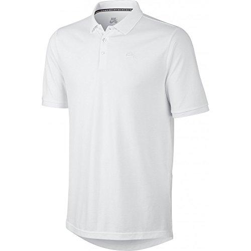 Nike Dri-Fit SB Pique Polo SS T-Shirt XL Blanco (White/White) (Nike-pique Shirt Polo)
