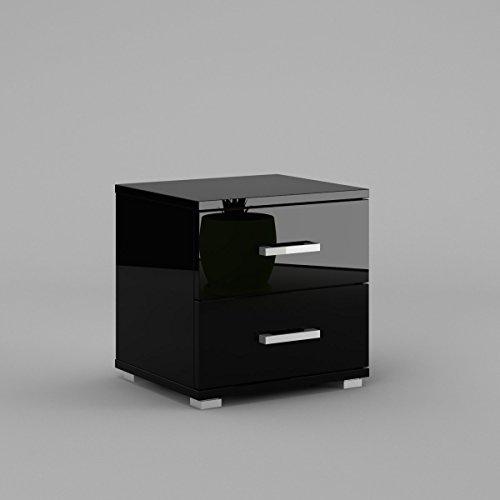 neli-n2-table-de-chevet-table-de-nuit-2-tiroirs-le-corps-noir-haute-brillance-le-front-noir-haute-br