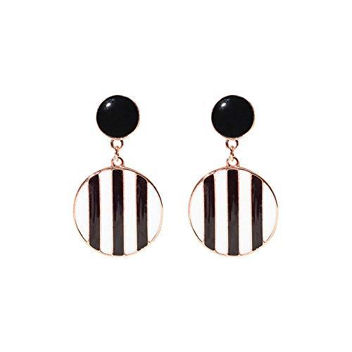 Beautifulchen Ohrringe_s925 geometrische runde Ohrringe weibliche Mode Tropfen Öl gemalt weiblich -