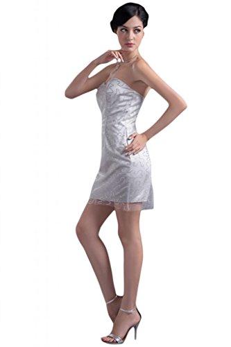 Sunvary Hot Oranza Sweetheart vestito corto da Cocktail, per feste plata