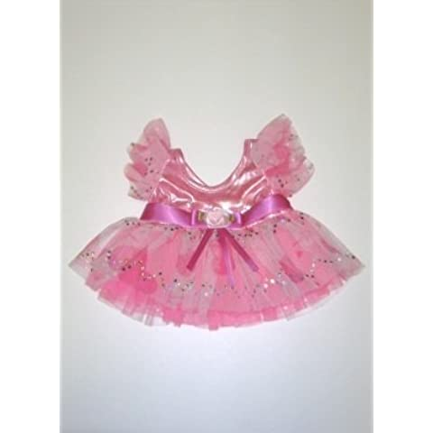 Pink Passion Hearts Dress Outfit Teddy Bear Clothes Fit 14