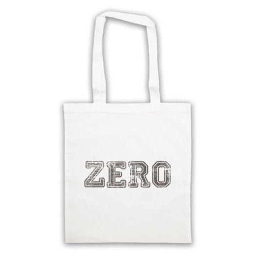 Zero Funny Slogan Tote Bag Bianco