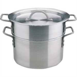 Vogue Aluminium Double Boiler 4Ltr 24cm Heavy Duty Kitchen Cooking Pan