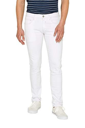 Esprit 059EE2B003 Jean Slim, Blanc (White 100), 30W x 32L Homme