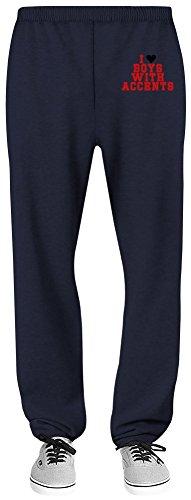 Harma Art I Love Boys with Accents Relaxed Jersey Pants - 70% Baumwolle, 30% Polyester - Hochwertige Sweatpants für Indoor & Outdoor Aktivitäten X-Large (Navy Boys Blue Jersey)