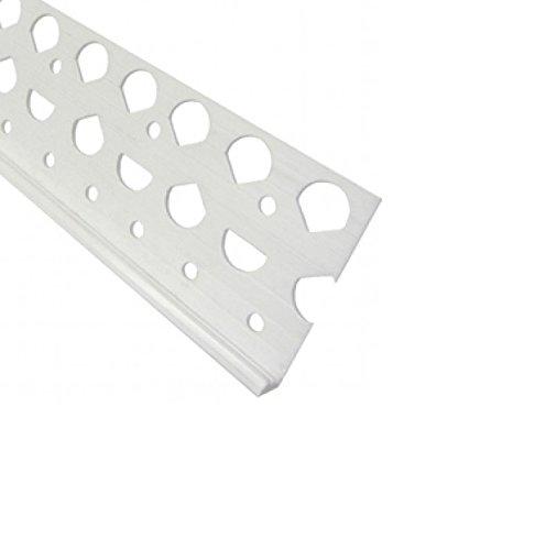 Grey 2.5mtr PVC Render Corner Beads 10mm K-Rend Stops x 10