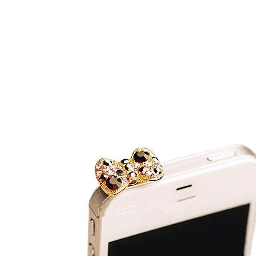 Mavis's Diary® Bouchon Anti-Poussière Strass Universel Compatible avec tous les Appareils avec Jack de 3,5MM de IOS ou Android Stylos pour iPhone 5 5C iPhone 6 Plus 6S Plus 7 7Plu Stylus Samsung S3 S4 S5 Mini S6 Edge S6 Edge Plus S7 Edge Plus Huawei P7 P8 Lite P9 Sony Z3 Z4 Compact Z5 LG G3 G4 HTC M7 M8 iPad Mini 2 3 4 iPad Air 2 Pro Surface Pro Samsung Tab 2 3 4 Kindle PaperWhite WIko Fever Rainbow Jam Up Etc