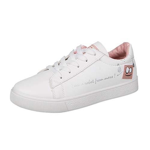 Sneaker A Collo Basso Donna Sneakers Basse da Donna Scarpe Casual con Lacci Scarpe Singole Scarpe da Studente Scarpe Sportive per Donna/Ragazza Kinlene