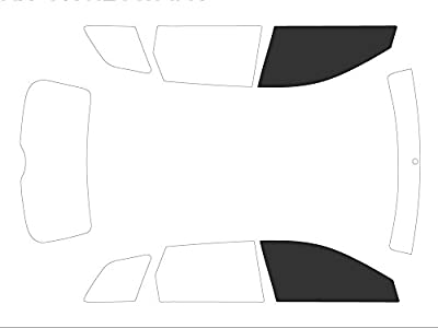 Variance Auto va_k-3-50|721|3739-3-31 Films Teintés pour Auto Kit Vitres avant, Black 05