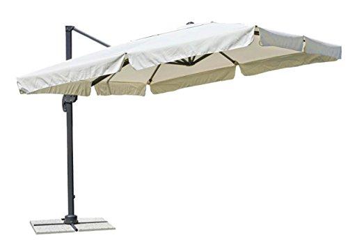 Ampelschirm, klappbarer Sonnenschirm mit seitlicher Stange, Größe: 300x 400cm, art350