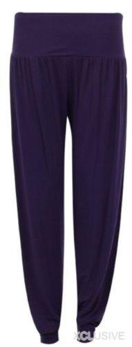 nouvelles femmes de taille plus Ali Baba harem pantalon large pantalon purple