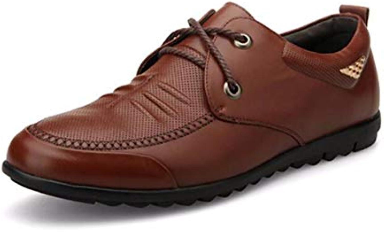 KMJBS Calzado de Hombre/Zapatos Ocasionales De Los Hombres Edad Media Brown Treinta Y Nueve