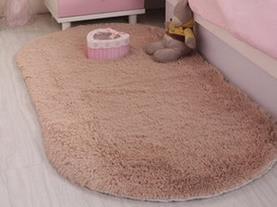 GRENSS Super Rutschsichere Auflage weiche Zimmer Oval Teppich Bodenbelag warme Matte waschbar Schlafzimmer/Wohnzimmer/Teapoy Teppich, 3,80 x 200 cm -