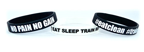 Fitness & Bodybuilding 3x Armbänder NO PAIN NO GAIN Training Workout Sport Fitness Gym Lifestyle CrossFit Zubehör Accessoire Silikon Gummi Band Sportarmband Unisex Neu Lifestyle-armband