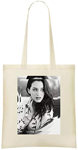 Jimmy Apparel Kat Dennings Glamour - Kat Dennings Glamour Custom Printed Shopping Grocery Tote Bag 100% Soft Cotton Eco-Friendly & Stylish Handbag For Everyday Use Custom Shoulder Bags