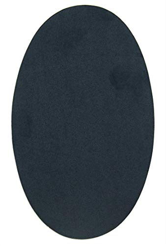 2 Knieschützer - Ellenbogenschoner aus Wildleder/Wildleder. Aufnäher zum Schutz Ihrer Kleidung und Reparatur von Hosen, Jacken, Pullover, Hemden. 16 x 10 cm 90. Marineblau