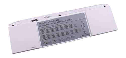 vhbw Li-Polymer Batterie 4200mAh (11.1V) pour Ordinateur, Notebook Sony VAIO SVT1346L1ES, SVT1346V1ES comme VGP-BPS30A.