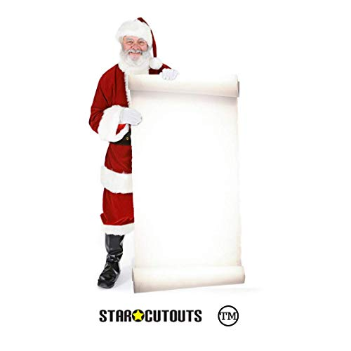 Star cutouts - Stsc16 - Figurine Géante - Père Noel avec Grand Tableau 180 Cm