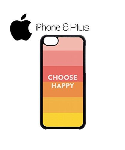 Choose Happy Colours Mobile Cell Phone Case Cover iPhone 6 Plus Black Schwarz