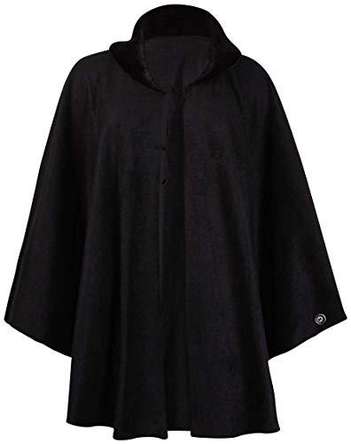 Top Fashion18 Damen Übergröße Batwing Damen Fleece Faux Pelzkragen Krawatte Cape One Size Poncho Coat EU-Größe 44-56 -