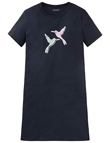 Schiesser Mädchen Sleepshirt 1/2 Nachthemd, Blau (Nachtblau 804), 140 (Herstellergröße: XS)