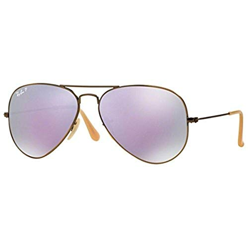 Ray-Ban Herren Sonnenbrille Rb 3025, Brushed Bronze Demishiny/Greymirrorlilacpolar, One Size (58)