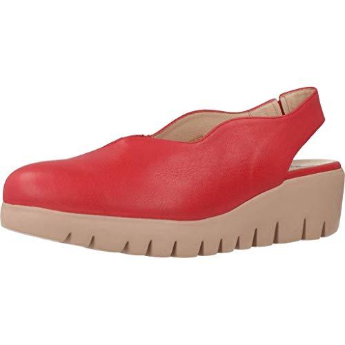 Wonders Zapatos Cordones Mujer C33161 para Mujer Rojo 41 EU