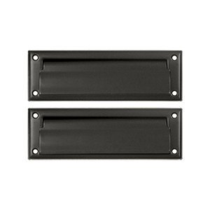 Deltana MS627CR003 8 7/8-Inch Mail Slot with Solid Brass Back Plate by Deltana