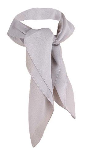 TigerTie Damen Chiffon Nickituch silber grau Gr. 50 cm x 50 cm - Tuch Halstuch Schal