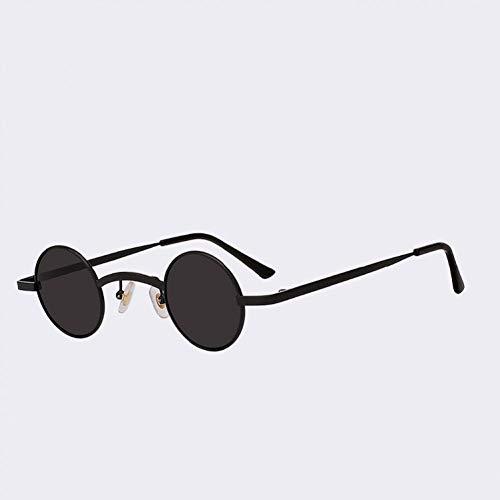 TIANKON Mode kleine runde Sonnenbrille männer Frauen Metall Sonnenbrille Retro uv400 gläser,A2d