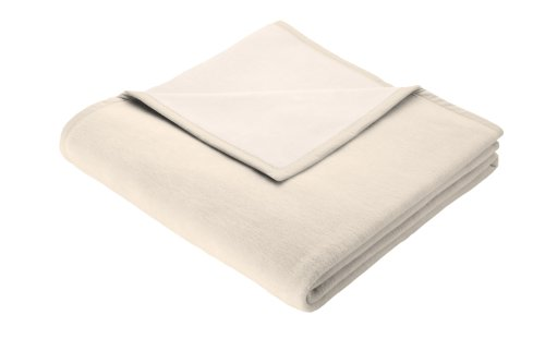 Biederlack Wohn- und Kuscheldecke, 50% Baumwolle, 50% Schurwolle, Samtband-Einfassung, 150 x 200 cm,...