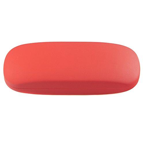 Brillenetui für Damen und Herren – Hartschalen Etui Rot inkl. Mikrofasertuch für Brillen und Sonnenbrillen – Hardcase Etui Modell: Wales (Rot)