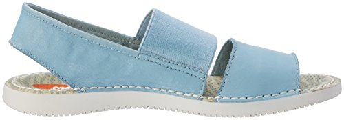 Softinos Tai383sof, Sandales  Bout ouvert femme Turquoise (Pastel Blue)