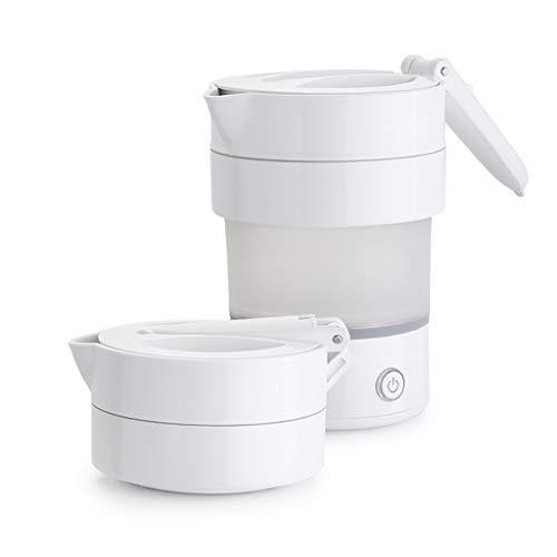 GAIQIN Kessel Weißer zusammenklappbarer tragbarer Wasserkocher 0.6L, zusammenklappbarer Kessel des Nahrungsmittelgrad-600W Teekessel 600w Chaos
