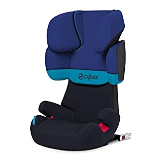 Cybex - Silla de coche grupo 2/3 Solution X-Fix, para coches con y sin ISOFIX, 15-36kg, desde los 3 hasta los 12 años aprox., Azul (Blue Moon) (B00DSKSGKK) | Amazon Products