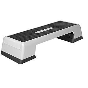 GORILLA SPORTS® Aerobic Stepper 3-Fach höhenverstellbar – Fitness Step-Brett XS/XL