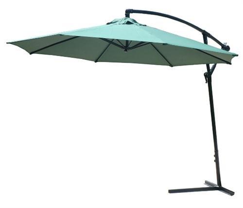 300 cm Ampelschirm Sonnenschirm Regenschirm Schirm mit Kurbel und Ständer