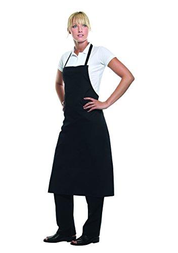 Pflegeleichte Latzschürze Basic für Bistro + Gastronomie + Bar + Kellner + Service, Farbe:Black;Größe:75 x 100 cm 75 x 100 cm,Black