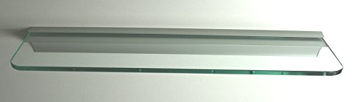 Glasregal 50x12 cm /8mm Klarglas /Wandprofil LINO8 Alu silber / Glasablage / 2 Regale