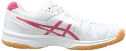 Asics Gel Upcourt G5 White Pink Youths Trainers Blanc Rose