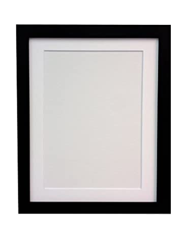 FRAMES BY POST H7 Picture Frame 24 x 18 Inches Black with White Mount for Image Size 18 x 12 Inches